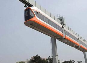 我国最快空中列车下线 最高时速70公里
