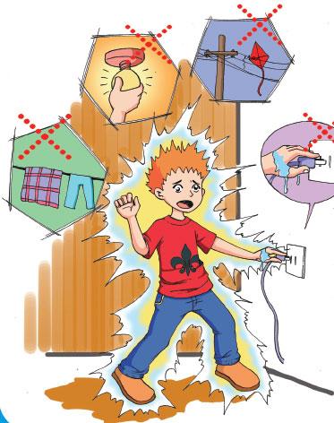 四,高压电的危险更大,在户外放风筝,捉蜻蜓,玩航模等活动时,一定要在图片