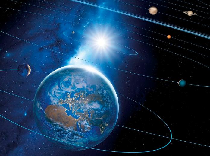 太阳系中的水