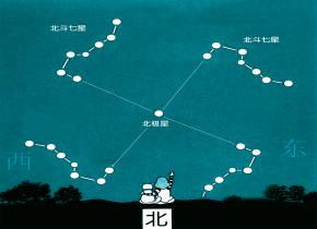 七颗星星指方向