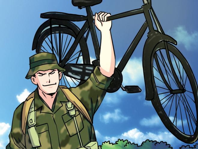 """俘虏了一""""位""""自行车"""