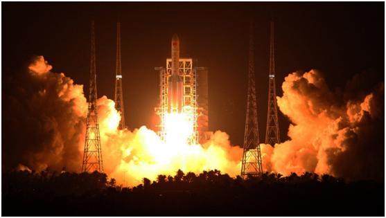 长征五号火箭首飞成功:中国从航天大国迈向航