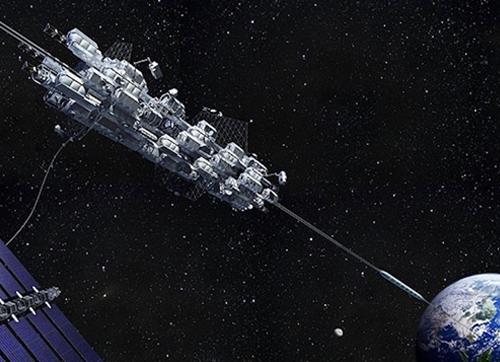 """3.6萬公里的""""太空電梯"""",可能會被太空垃圾攔腰斬斷"""