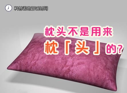 【科普君的辟谣时间】枕头不是用来枕「头」的?