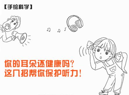 【手绘科学】【健康你我他】你的耳朵还健康吗?这几招帮你保护听力!