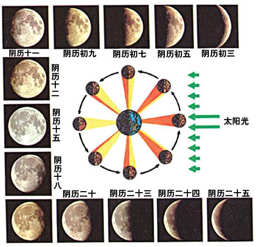 月亮变化图